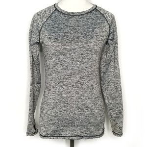 ClimateRight by Cuddl Duds gray black long sleeve